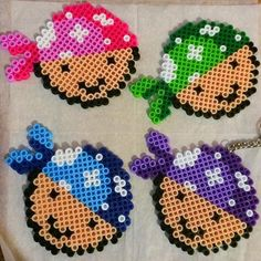 Perler bead pirate party favors by hamabeadsmx