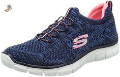 Skechers Sport Women's Empire Sharp Thinking Fashion Sneaker, Navy/Hot Pink, 7 M US - Skechers sneakers for women (*Amazon Partner-Link)