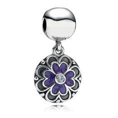 Clip Pendentif Pandora Fleur Violette- €29.98
