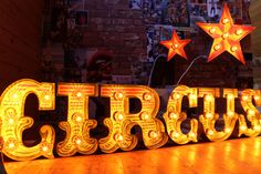 Light Up Circus Sign by MissingChopper on Etsy