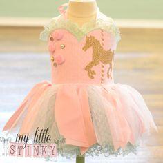 Color de rosa y menta carrusel vestido tema 9-12mo
