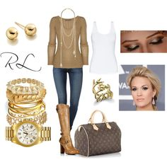 """""""Gold"""" by rosa-lauber on Polyvore"""