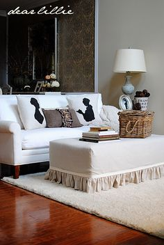 LOVE the style of this living room  {I know, it's SO not happening at my house, but a girl can still wish!}