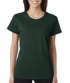 5000L Gildan Heavy Cotton™ Ladies' T-Shirt Forest Green