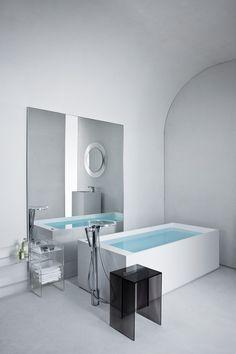 Transitional Kartell Freestanding Bathtub by Kartell