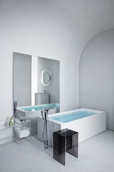 Transitional Kartell Freestanding Bathtub by Kartell