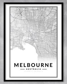 This contemporary and minimalistic map print (A3) is perfect for the home or office, or even as a gift! As this is an instant download, you will be purchasing exactly what you see. We can also create custom maps of any place in the world. Just send us a message!  DIGITAL DOWNLOAD ONLY (NO PRINT OR FRAME INCLUDED) - WE WILL MESSAGE YOU WITH YOUR DOWNLOADABLE FILE WHEN IT IS READY. Melbourne Map, Personalized Engagement Gifts, One Year Anniversary Gifts, Map Shop, Gsm Paper, Custom Map, Digital Prints, Custom Design, Black And White