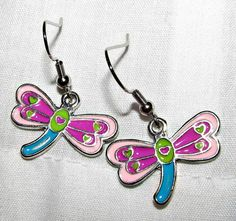 Colorful Dragonfly Handmade Earrings $4.75