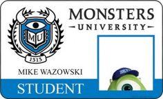 monster university student id | meet-the-class-of-monsters-university-mike-wazowski-student-id-card