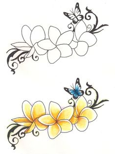 I REALLY WANT THIS TATT.I had frangipanis in my wedding bouquet & from this marriage I have 3 beautiful children.1 bloom to represent each beautiful baby,but where to put it ???