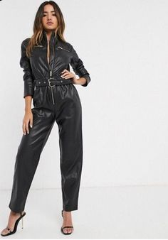 Leather Catsuit, Leather Jumpsuit, Leather Blazer, Lambskin Leather, Biker Leather, Short Leather Jacket, Vintage Leather Jacket, Rompers Women, Jumpsuits For Women