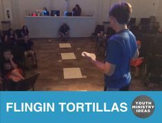 Flingin Tortillas! Tortilla toss game sent in by @impactmiddleschool. Youth Ministry Ideas and Games.