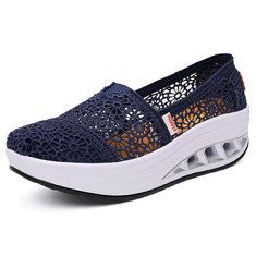 Mesh Rocker Sole Shoes Health Shoes Slip On Outdoor Athletic Sport Shoes - US$28.90