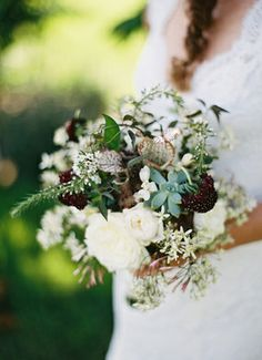 Amazing textured #bouquet by Beehive Events, photo by Eric Kelley Photography