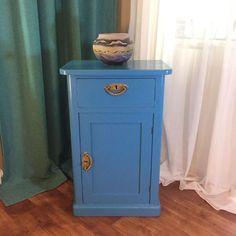 Mavi Vintage Komodin - Dekopasaj.Com - dekopasaj.com