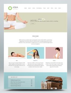Spa and Beauty HTML5 Template Html Website Templates, Modern Design, Aqua, Minimal, Beauty, Water, Contemporary Design, Beauty Illustration