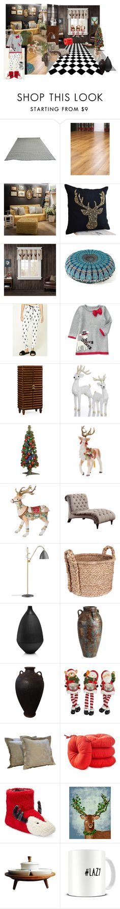 """""""Deer"""" by claudia-regina-vieira-correa ❤ liked on Polyvore featuring interior, interiors, interior design, home, home decor, interior decorating, Forever 21, Jonathan Charles Fine Furniture, Holiday Lane and National Tree Company"""