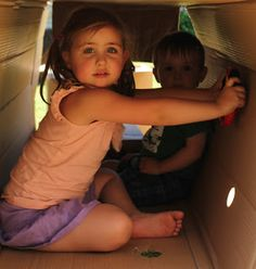 """What cardboard boxes can teach children. Six Learning Dimensions of a Cardboard Box - from Moving Smart ("""",) Cardboard Kids, Custom Cardboard Boxes, Rainy Day Activities, Preschool Activities, Fun Learning, Teaching Kids, Teaching Tools, Move To Learn, Physical Development"""