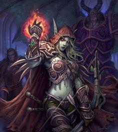 World of Warcraft Lady Sylvanas Windrunner Dota Warcraft, Warcraft Art, Warcraft Legion, World Of Warcraft, Lady Sylvanas, Banshee Queen, Sylvanas Windrunner, Wow World, Elfa