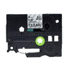 """Brother TZe-121 P-touch Label Tape, 9mm (0.375"""") Black on Clear, Compatible"""
