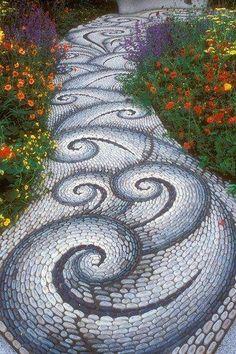Garden swirls. Like a mosaic ocean