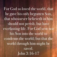 Daily Word, Begotten Son, Everlasting Life, God, Dios, Allah, Word Of The Day, The Lord