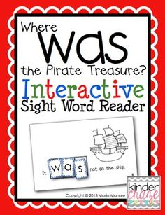 Pirate-themed emergent reader
