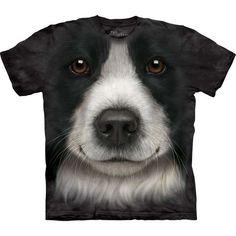 The Mountain Dog T-shirt | Border Collie Face