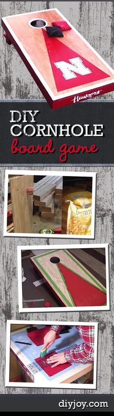 Fun Outdoor DIY Ideas - DIY Cornhole Board Game Tutorial