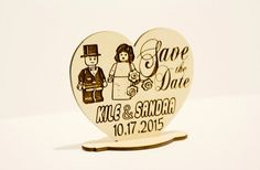 50 Wooden Save the Dates with Stand - Laser Engraved - Lego Couple - Lego Theme - Wedding - Lego bride and groom - Wedding Favor