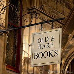 antique books | ... outside an old building, reads Old & Rare Books; Melbourne, Australia