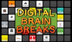 Bright Ideas: Digital Brain Breaks for Whole Classes & Individuals Teaching Technology, Teaching Tools, Teaching Resources, Teaching Ideas, Brain Based Learning, Project Based Learning, Educational Websites, Educational Technology, Brain Break Videos