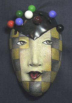 """Strategy 2"", a mask by Peggy Bjerkan. Also see: maskwoman.com (+ ""Materials/techniques"")"