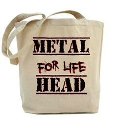 Metal Head For Life Tote Bag> Metal Head For Life> Route 73 Design and Printing Inc.