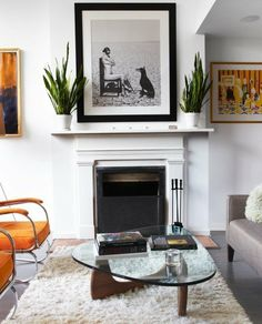 New & Old Ideas for Styling Your Fireplace | Apartment Therapy