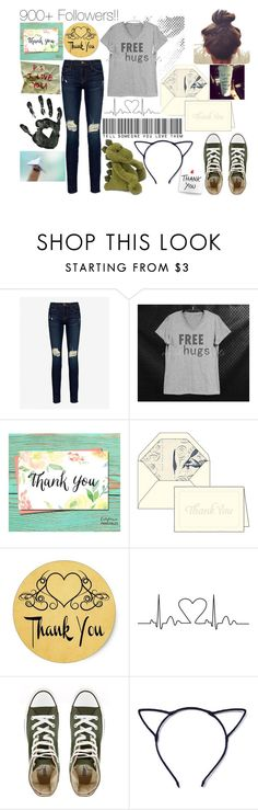 """""""900+ Followers!! Thank you!! :)"""" by kristinberchak ❤ liked on Polyvore featuring beauty, Frame Denim and Converse"""