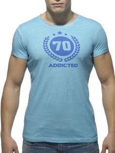 Addicted Varsity Round Neck T-Shirt turquoise