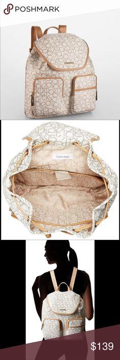 Calvin Klein logo backpack Calvin Klein logo backpack New with tag Calvin Klein Bags Backpacks