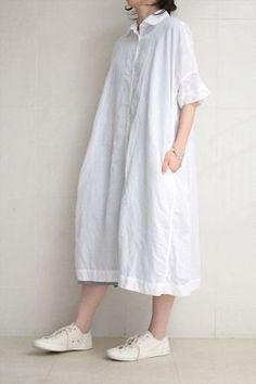 CASEY CASEY  LINEN DRESS WHITE