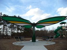 Butterfly Shade 1 Butterfly Park, Splash Pad, Shades, Patio, Building, Outdoor Decor, Plants, Projects, Painting