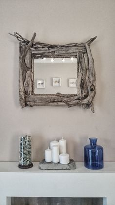 Unique handmade reclaimed beach costal driftwood mirror 2.5 x 2.5ft by OneOfAKindEmporium on Etsy https://www.etsy.com/listing/187541311/unique-handmade-reclaimed-beach-costal