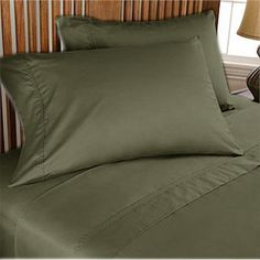 1000TC Egyptian Cotton Olive Duvet Quilt Cover Set 3pc - Available in All Size
