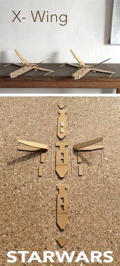 x wing starwars x ala carton karton cardboard nave lego spaceshuttle raumschiff… Star Wars Origami, Origami Stars, Daycare Crafts, Diy Crafts For Kids, Star Wars Weihnachten, Nave Lego, Disfraz Star Wars, Anniversaire Star Wars, Nave Star Wars