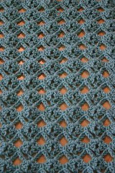 Diamante do laço do crochet ponto