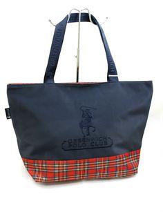Borsa Donna Shopping Grande Greenwich Polo Club Tessuto Gommato Colore Blu