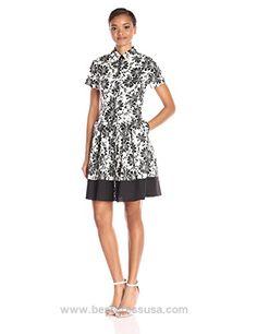 Shoshanna Women's Black and White Floral Print Campbell Dress  http://www.bestdressusa.com/shoshanna-womens-black-and-white-floral-print-campbell-dress/