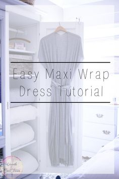 Get ready for summer beach trips with this easy maxi wrap dress tutorial!