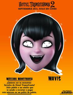 #Manualidades #HotelTransylvania2 #Mavis #máscara