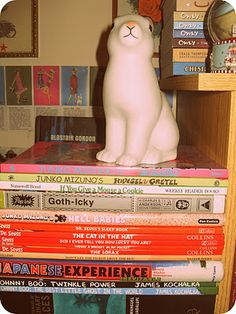 graphic novels and a bunny that lights up