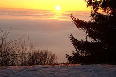 Sonnenuntergang im Mühlviertel wurde in Österreich aufgenommen Celestial, Sunset, Outdoor, Travel Report, Travel Advice, Places, Viajes, Pictures, Outdoors